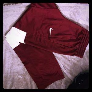 New Burgundy Nike Pants Small